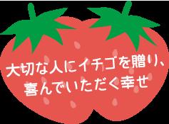 大切な人にイチゴを贈り、喜んでいただく幸せ